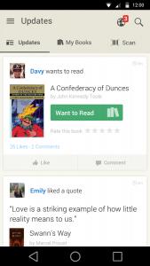 Goodreads Dashboard. Imagem: Reprodução
