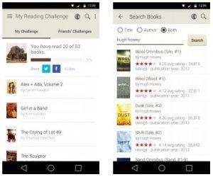 Goodreads. Reprodução de tela do aplicativo.