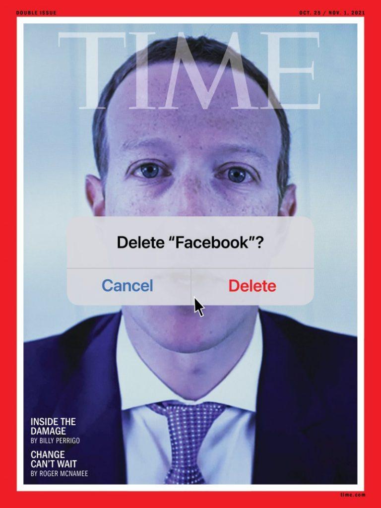 TIME Magazine: capa sobre escândalos do Facebook